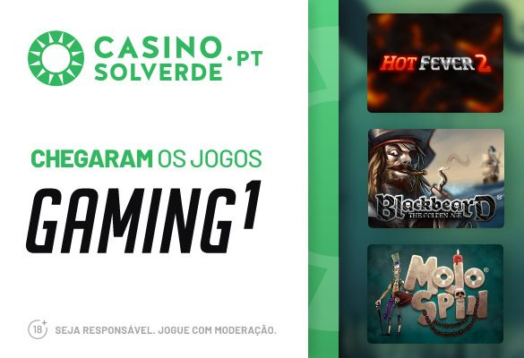 A Gaming1 Chegou ao CasinoSolverde.pt