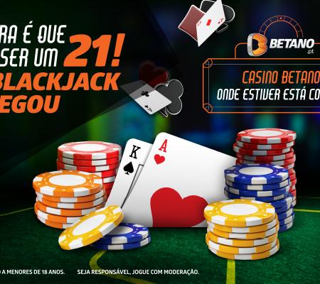 O Blackjack chegou ao Casino Betano!