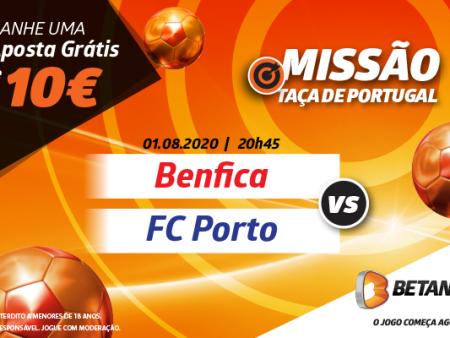 Betano tem uma Aposta Grátis de 10€ para a Final da Taça