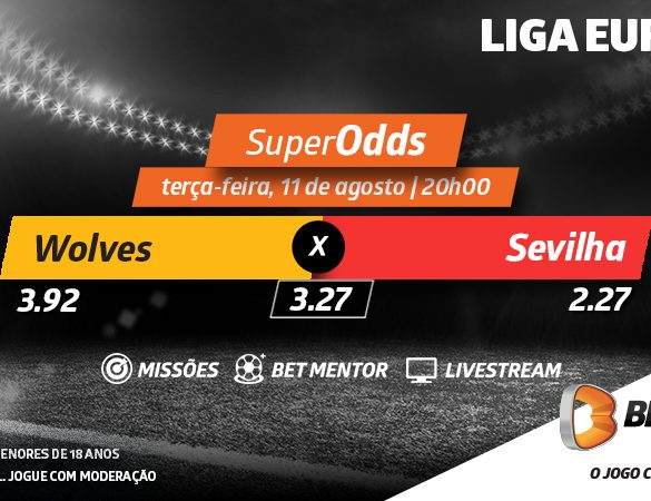 SuperOdds Betano: Wolves-Sevilha num duelo histórico