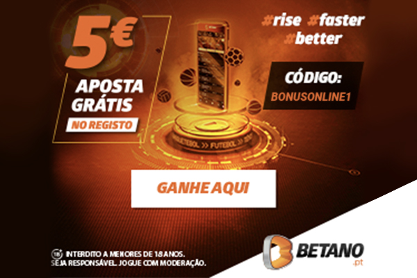 BÓNUS EXCLUSIVO – 5€ PELO TEU REGISTO!